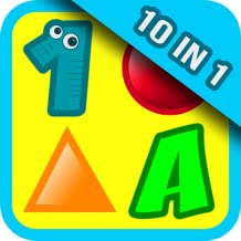 10 Preschool Activities in One App - Fun Educational Kids Games (ABC letters, learn numbers, teach colors, shapes, 123 counting, matching objects and train memory) for Toddlers & Kindergarten Explorers