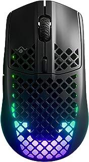 SteelSeries Aerox 3 Wireless - Ratón de Gaming Ligero - Sensor Óptico de Aire TrueMove de 18.000 CPI - Batería de 200 Hora...