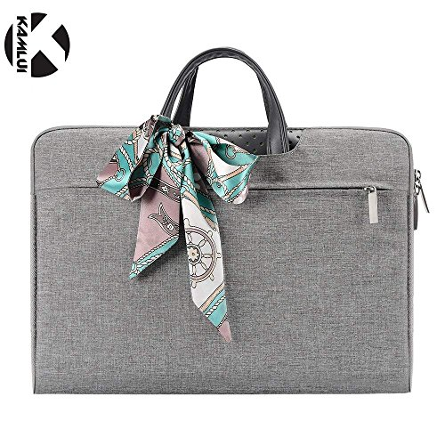 Kamlui Laptop Computer Bag 13.3 Inch - for Women Men Canvas Notebook Tote Bag - Laptop Case