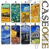 Caseone® Coque pour LG – Van Gogh – Mpm Caoutchouc (K8 2017, motif 8 – Église de Auvers)