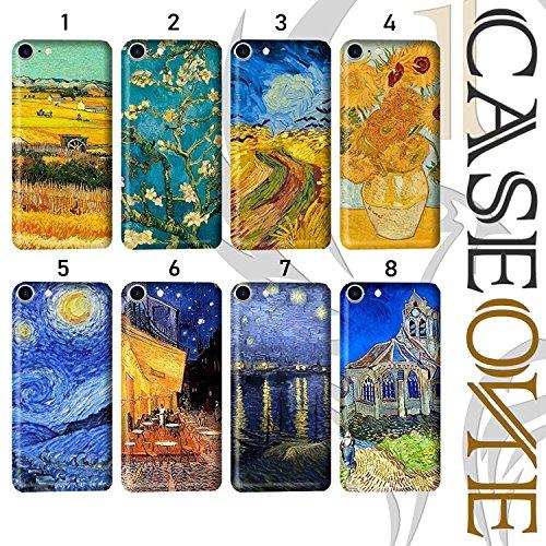 CASEONE Cover per iPhone - Fantasia Van Gogh - Air Gel Gomma Morbida (iPhone 8 Plus, 7 - Notte Stellata sul rodano)