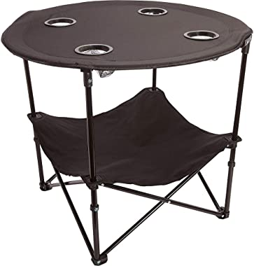 Camping Table Portable Camping Side Table for Outdoor Picnic, Beach, Games, Camp, Patio Tables Folding with Carry Case for Tr