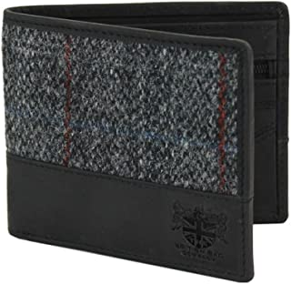 Mens Traditional Harris Tweed and Leather Wallet