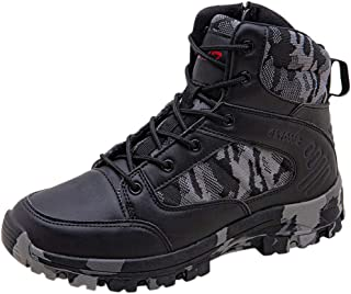 Military and Tactical Boot-RQWEIN Desert Combat Boot Unisex Jungle Water Resistant Tactical Commando SWAT Training Shoes