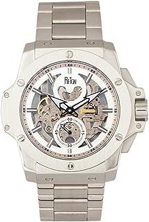 Reign - Commodus REIRN4006 Reloj automático de pulsera esqueleto plateado, talla única