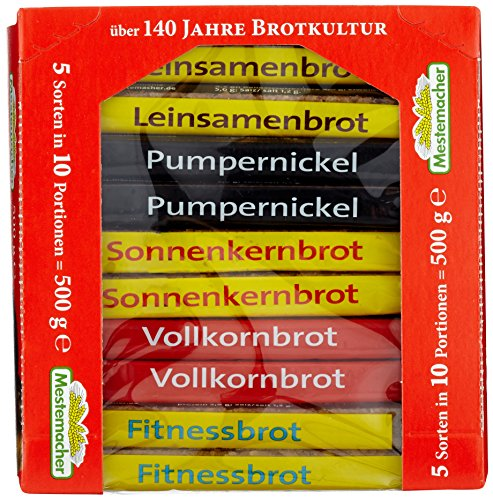 Mestemacher Vollkorn- Brotkörbchen, 12er Pack (12x 500 g)