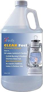 Firefly Citronella Clean Fuel Lamp Oil – Smokeless/Virtually Odorless – Longer Burning – 1 Gallon