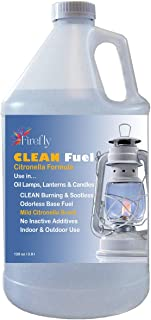 Firefly Citronella Clean Fuel Lamp Oil – Smokeless/Virtually Odorless – Longer Burning – 1 Gallon