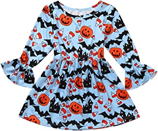 SSZZoo 12M-12Y,Kids Baby Girls Dress Hanging Neck Sleeveless Bowknot Floral Print Casual Clothes