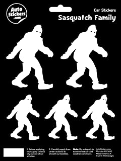 Sasquatch Family Vinyl Car Stickers 5 Decals