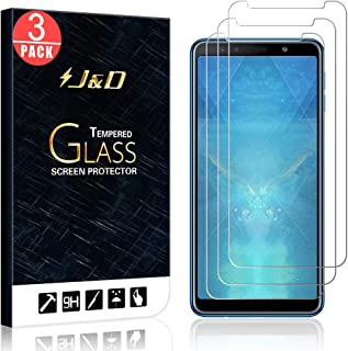 J&D J&D Compatible for 3-Pack Galaxy A7 2018 Glass Screen Protector, [Tempered Glass] [Not Full Coverage] HD Clear Ballistic Glass Screen Protector for Samsung Galaxy A7 2018 Screen Protector