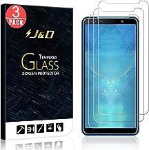 متوافق مع واقي شاشة زجاجي لهاتف Galaxy A7 2018 من J&D، [زجاج مقوم] [ليس تغطية كاملة] واقي شاشة زجاج باليستي شفاف عالي الدقة لهاتف Samsung Galaxy A7 (إصدار 2018)