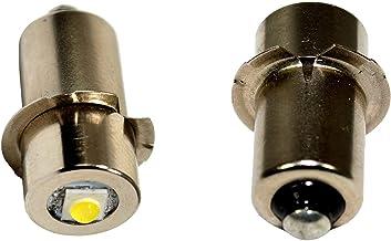 HQRP 2-Pack LED Upgrade Bulb for Ryobi Ridgid 7811502 / Lowe Kobalt 18v Flashlight, 100LM 7-30V + HQRP Coaster