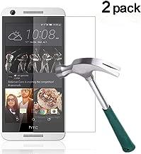 TANTEK HTC Desire 626s/626 Screen Protector, [Bubble-Free][Anti-Scratch][Anti-Glare][Anti-Fingerprint] Premium Tempered Glass Screen Protector for HTC Desire 626s/626,-[2Pack]