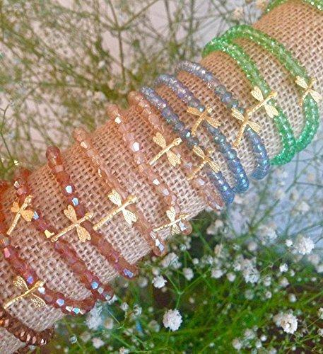 Pulsera elástica de cristales de swarovski: Amazon.es: Handmade