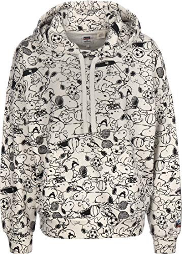 Levis x Peanuts 2020 All Over Print Hoodie Snoopy Off White M
