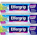 Effergrip Denture Adhesive Cream 2.50 oz (Pack of 3)