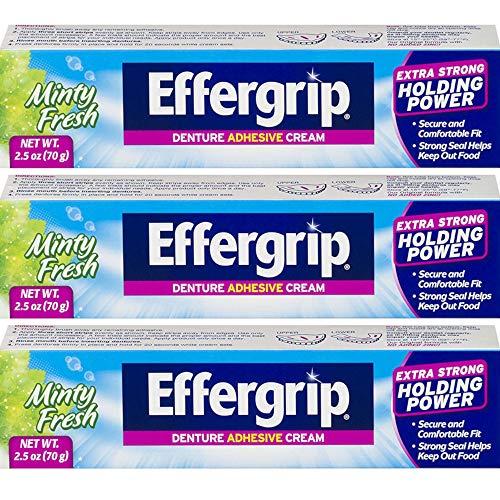 Effergrip Denture Adhesive Cream 2.50 oz (Pack of 3)