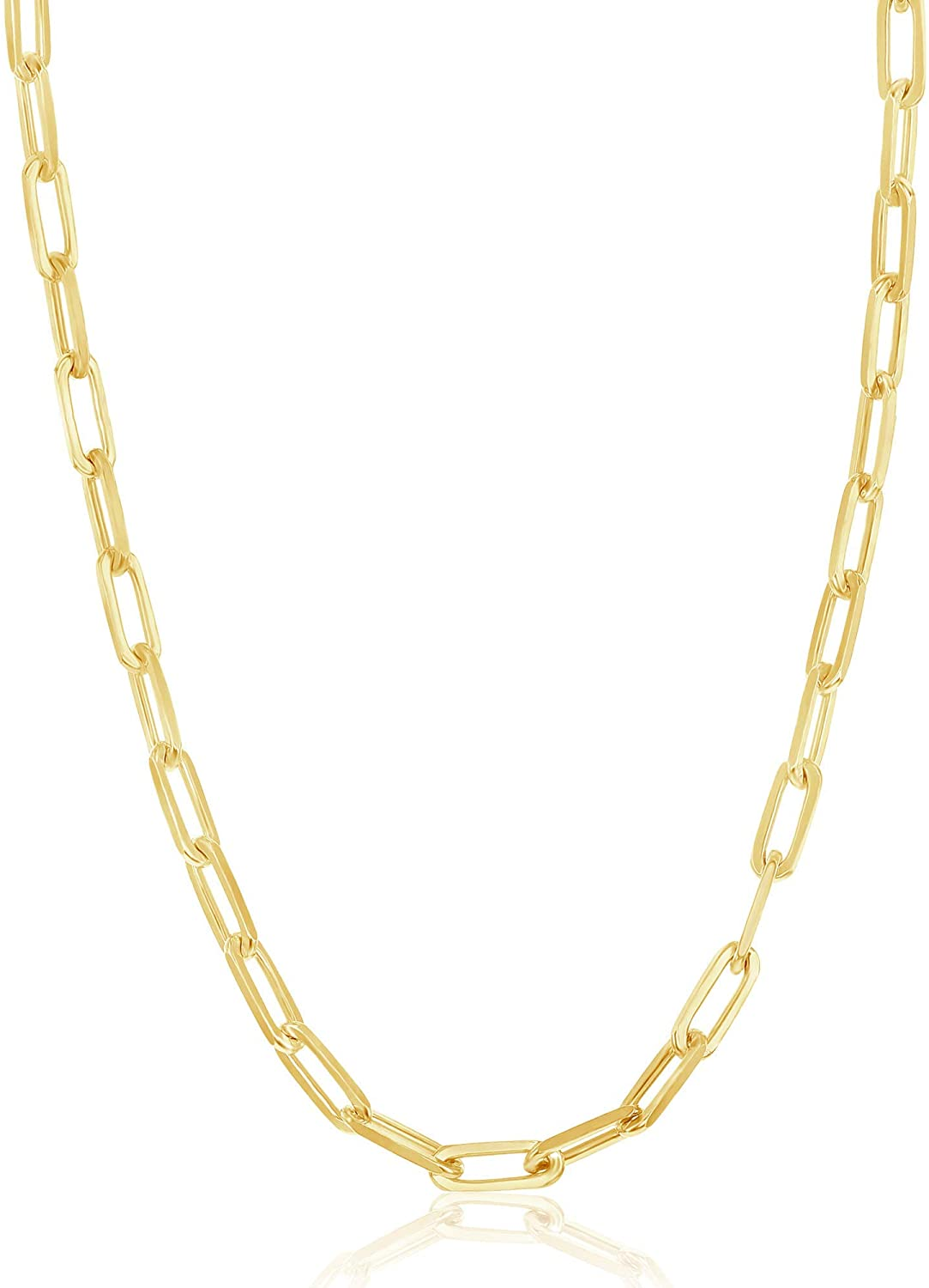 Paperclip Chain Popular products Bombing free shipping Link Necklace Sterling Rhodiu 14k Silver or Gold