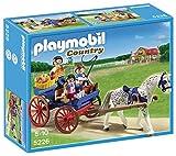 PLAYMOBIL Granja de Ponis - Carruaje con Caballo, Set de Juego, Multicolor, 25 x 7,5 x 20, (5226)