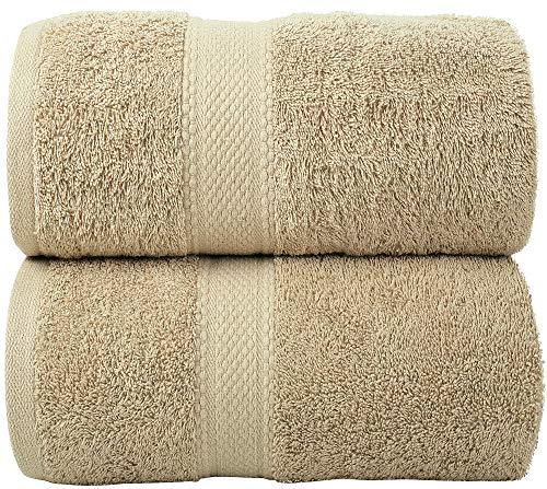 LUXEWARE - FEEL THE LUXURY Jumbo Extra Large XL Bath Sheet Towel Set (90 x 180...