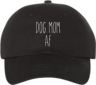 Ameritrends Dog Mom AF Dad Hat Baseball Cap Unstructured Hats Dunn New - Black