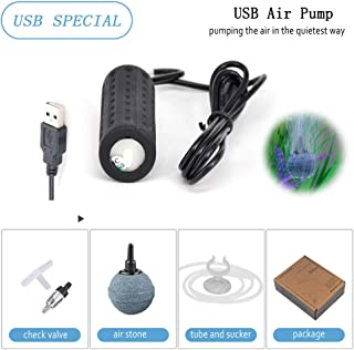 Mylivell Quietest Aquarium Air Pump Ultra Silent High Energy Saving Oxygen Air Pump Aquarium for Fish Tank with Air Stone and Silicone Tube