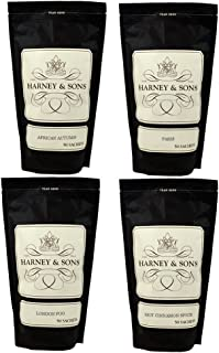 Harney & Sons Tea Favorites - Sachet Sampler, with HOT CINNAMON SPICE, PARIS, AFRICAN AUTUMN & LONDON FOG
