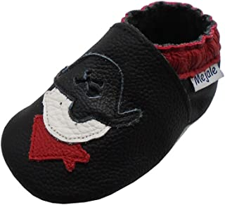 Mejale Baby Shoes Soft Sole Leather Moccasins Cartoon Pirate Infant Toddler First Walker Slippers