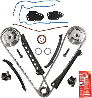 Variable Camshaft Timing Kit - Fits 2004, 2005, 2006, 2007, 2008 5.4L 24 Valve Triton Ford Expedition, F-150, F-250, F-350 Super Duty, Lincoln Mark LT, Navigator - Chain, Guide, Tensioner, Cam Phaser