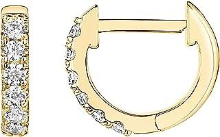 PAVOI 14K Gold Plated Cubic Zirconia Cuff Earrings Huggie Stud