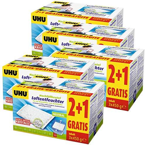 15x UHU 47135 Luftentfeuchter Nachfüllbeutel 450 gDuftneutral