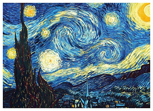 bubbleshirt Poster Van Gogh - la Notte Stellata - Arte - Riproduzione - Dimensioni 50x70cm e 70x100cm