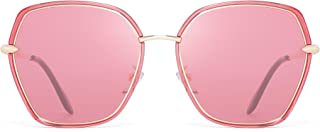 JIM HALO Oversized Polarized Sunglasses for Women Polygon Designer Shades UV400