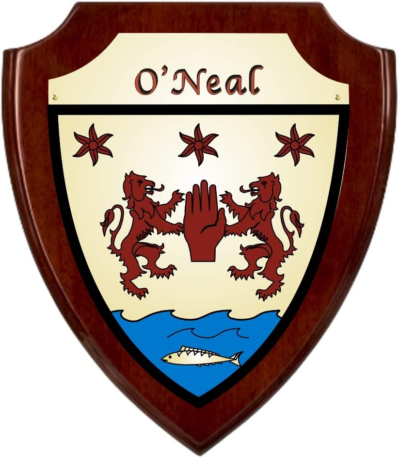 Free shipping on posting reviews O'Neal Irish Coat of Arms - Rosewood Charlotte Mall Finish Plaque Shield