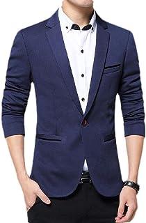 FSSE Men Business Suit Coat Slim Fit Casual Solid Dress Blazer Jacket Suit Coat