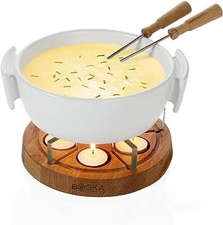 BOSKA 340031 Twinkle Cheese Fondue, 1 Liter, White