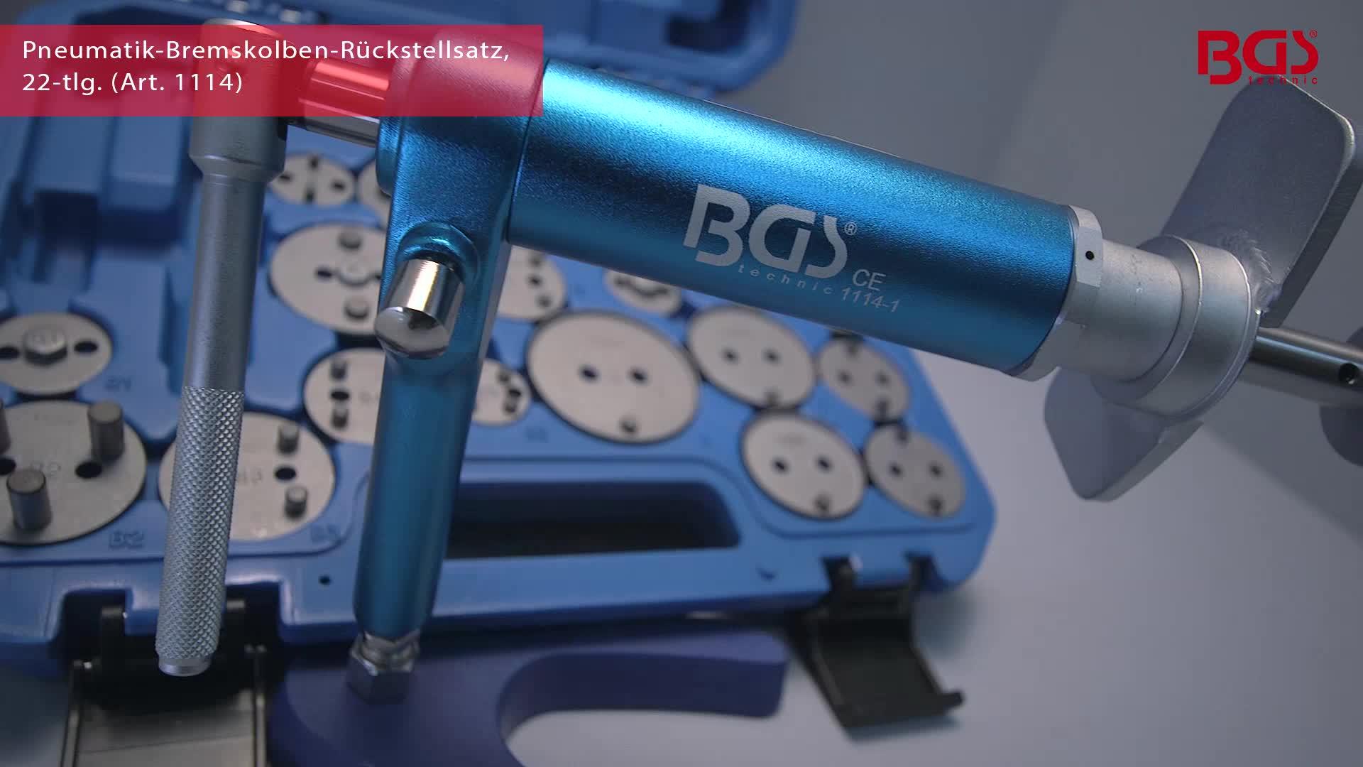 BGS Pneumatik-Bremskolben-Rückstell-Satz 1114 22 teilig Bremsen Satz Druckluft