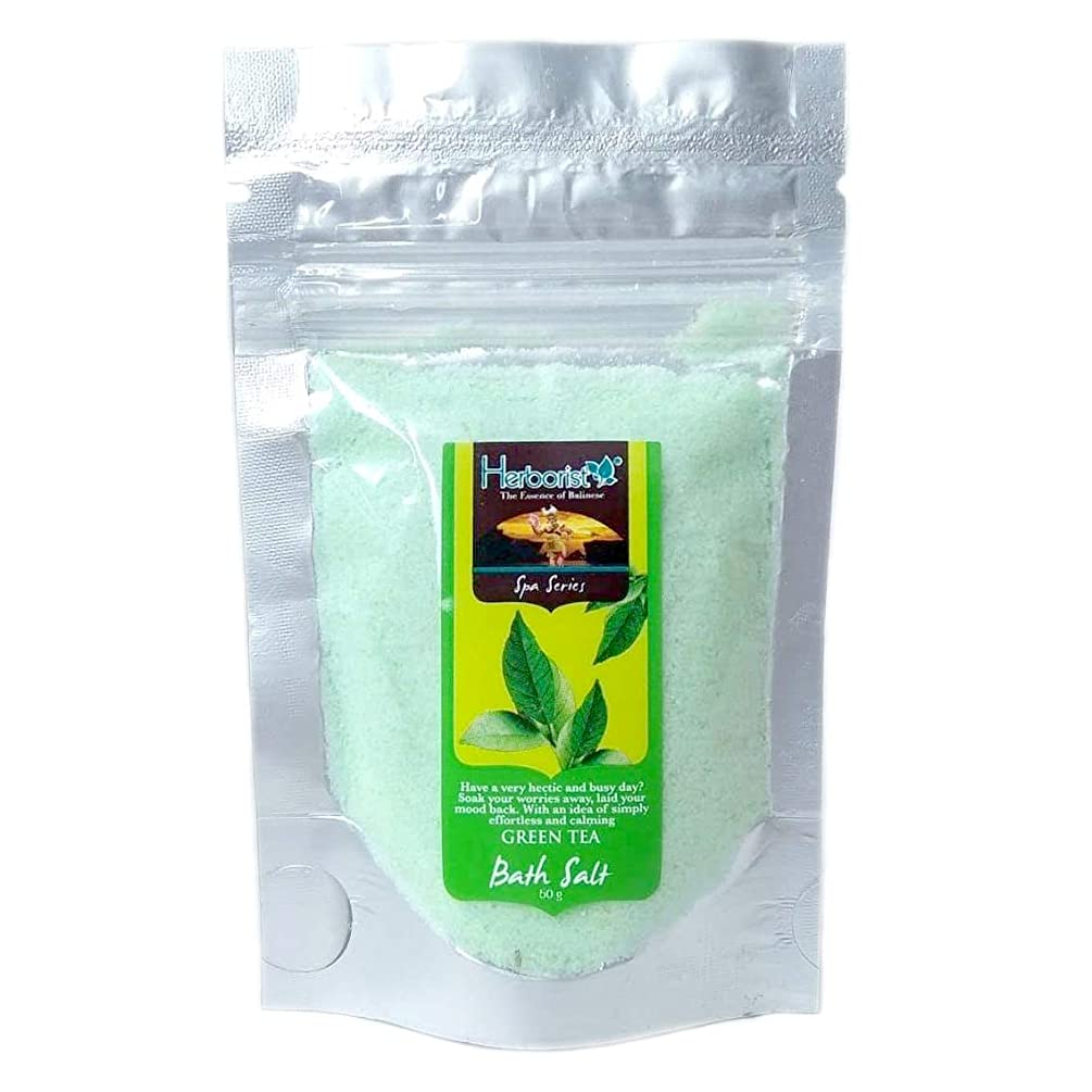 敬隣人フォアマンHerborist ハーボリスト Bath Salt バスソルト バリ島の香り漂う入浴剤 50g Green Tea グリーンティー [海外直送品]