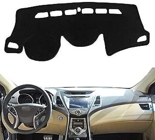 Autoxrun Black Dashboard Dash Protector Dash Mat Sun Cover Pad Fit 2012-2016 Hyundai Avante (Elantra)
