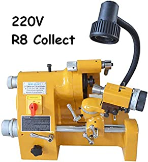 INTBUYING 220V R8 Collets Power Universal Cutter Sharpener End Mill Lathe Drill Bit Knife Grinder Universal