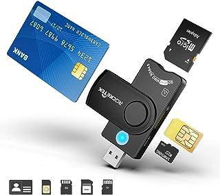 comprar comparacion Lector de Tarjetas múltiples, Lector de Tarjetas USB Militar Rocketek CAC/DOD, Lector de Tarjetas SDHC/SDXC/SD y Micro SD ...