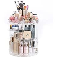 DreamGenius Makeup Organizer 360-Degree Rotating Adjustable Multi-Function Acrylic Cosmetic...