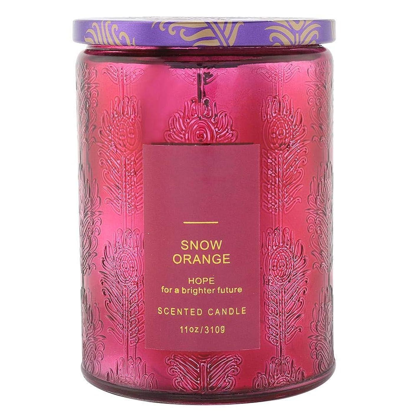 会う論争再発するオレンジ香料入りキャンドル、繊細な香料入りキャンドルフルーツフレグランスワックスエッセンシャルオイルディフューザーキャンドル