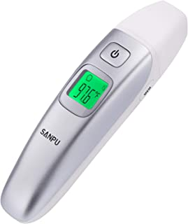 SANPU Digital Medical Infrared Forehead and Ear Thermometer for Baby,Kids and Adults with Fever Indicator CE and FDA Approved.