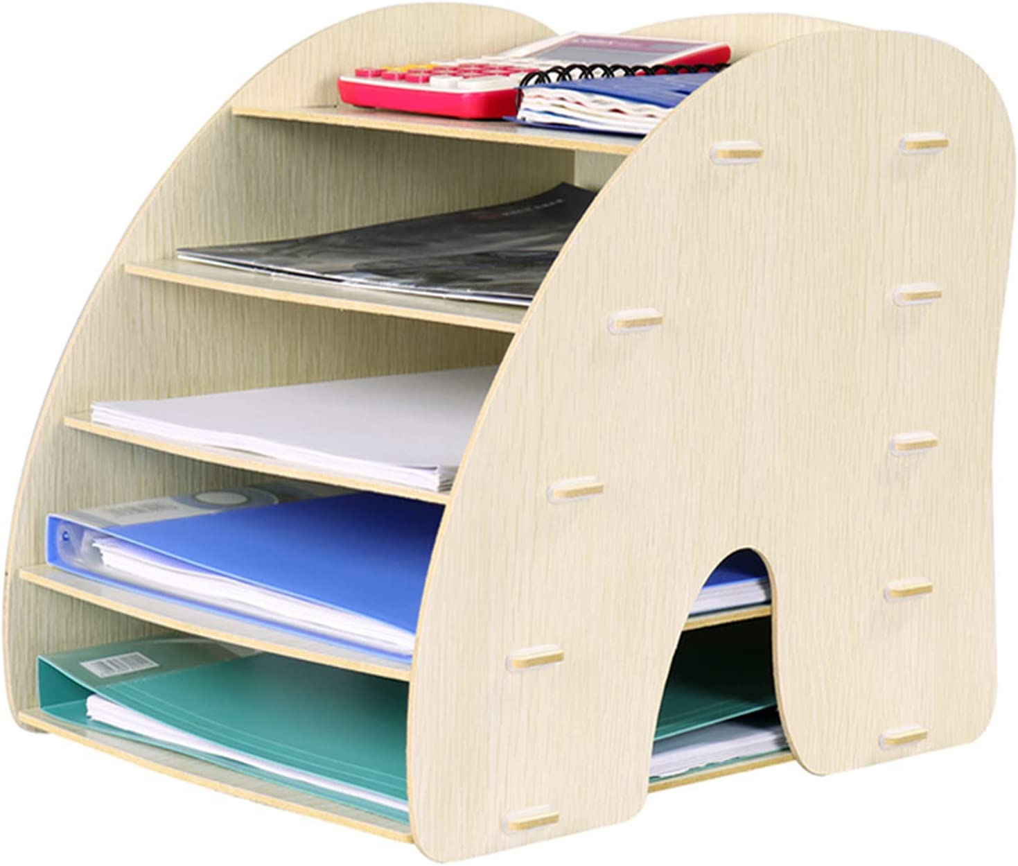 Max 84% OFF LJSF Wooden Desk Tidy Storage Organiser Office File Rack Gorgeous