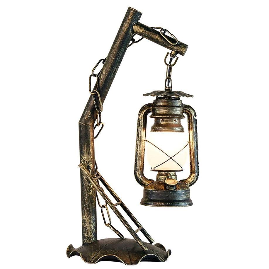 誇張反逆フェロー諸島Wangyi 電気スタンド- ヴィンテージ錬鉄製のテーブルランプ装飾リビングルームの寝室研究テーブルランプ (色 : ブロンズ, サイズ さいず : 26x54cm)