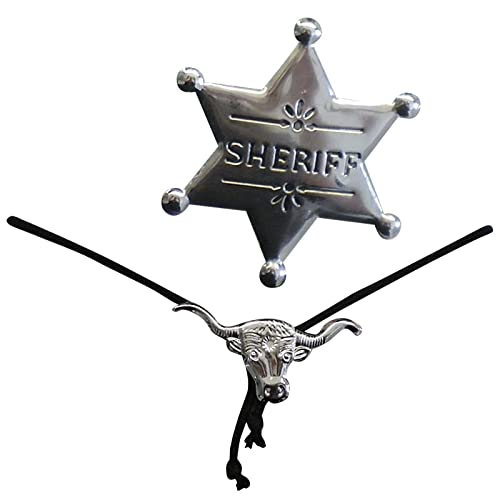 cowboy bolo necktie bootlace sheriff line dancing fancy dress