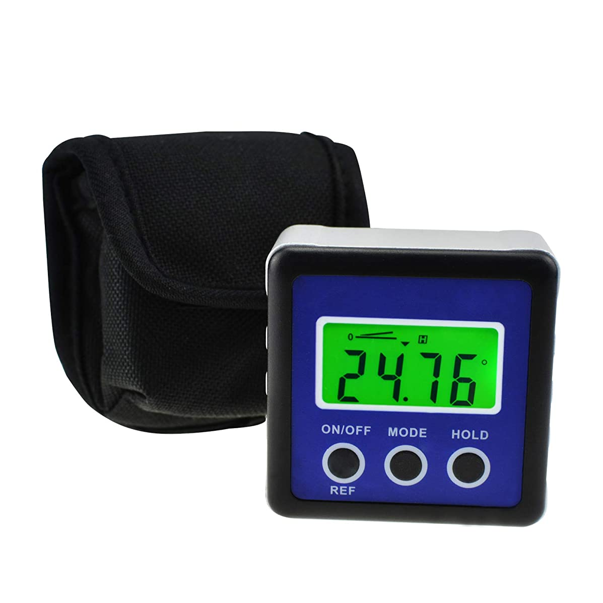 Digital Protractor Inclinometer Angle Finder Large LCD Display Relative Measurement Gauge Bevel Box with Built-in Magnets and Backlight