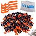 Tile Leveling System Kit with 100pcs Tile Leveler & 4 Special Wrenches & 500pcs 2mm Tile Spacers